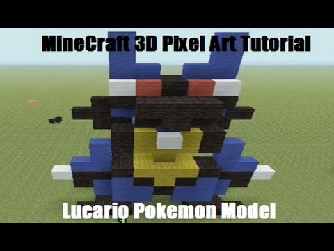 MineCraft 3D Pixel Art Tutorial – Lucario Pokemon Model