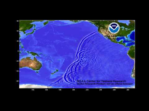 April 1, 2014 Iquique, Chile tsunami propagation
