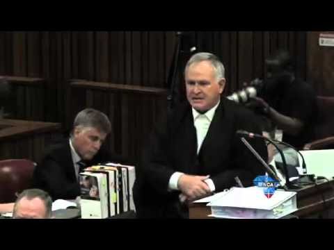 Pistorius shows how he broke the door down