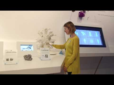 Mid Shot, a 3D printed model of an aircraft engine with f…