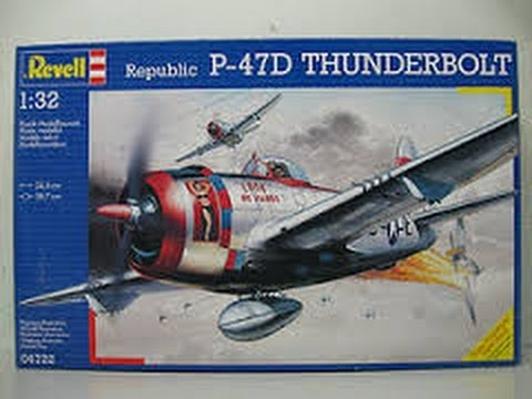 Revell 1:32 scale P-47D Thunderbolt In Box Review