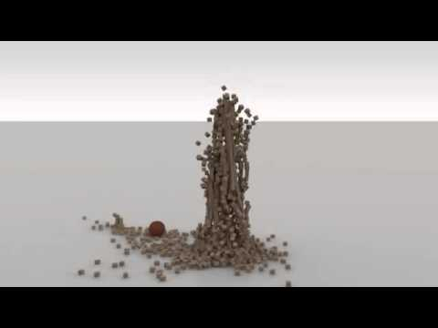 Animation Cinema 4D Block Tower Re-up