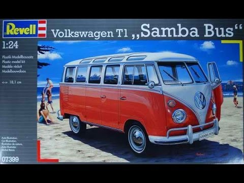 Revell 1:24 Scale VW  T1,Samba Bus In Box Review.