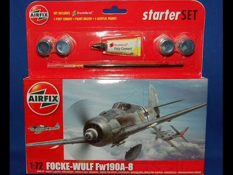 Airfix Focke Wolf FW-190 1/72 Starter Kit Inbox Review