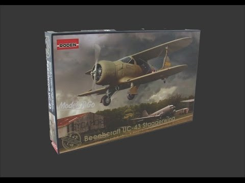 Roden 1/48 Beechcraft UC-43 Staggerwing Scale Model Review