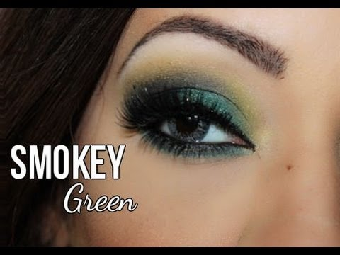 Tutorial Smokey Green by JasminMakeup1