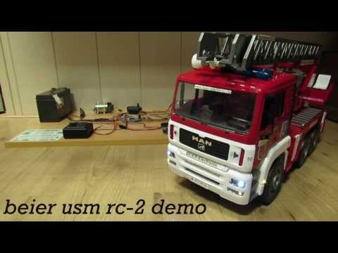 BEIER USM RC-2 FIRE ENGINE LIGHTS AND SOUND DEMO / TEST 3 GEARS