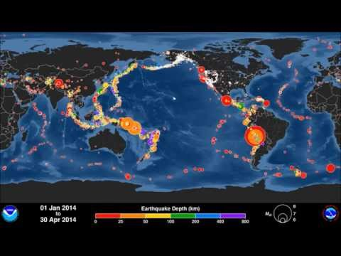 Global Earthquakes: January – April 2014 [fast speed & regular speed]