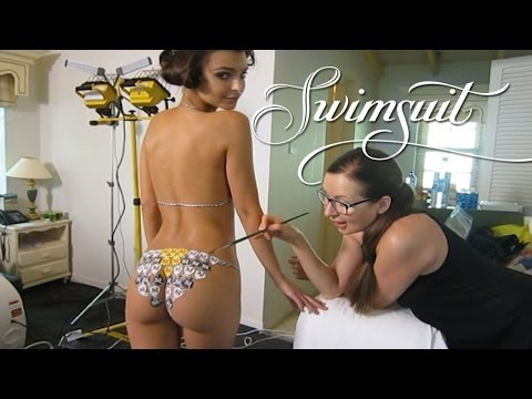 Body Painting Behind The Scenes Exclusive, Swim Daily