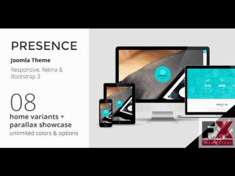 Preview PRESENCE – Joomla One Page Parallax Template TFx