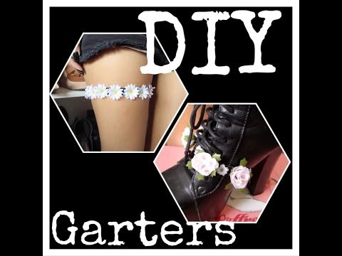 DIY Thigh & Shoe Garters