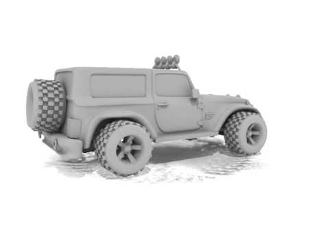 3D Modeling Showreel Portfolio -Jeep by Gurpreet Singh Degree Batch Arena Sector 17 Chandigarh