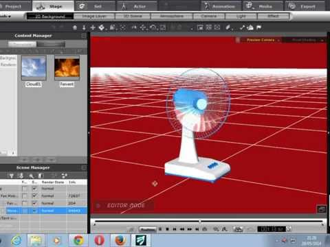 iclone 5 Tutorial Model Fan With Automatic Motion  3D Animation  iclone Space 3D HD