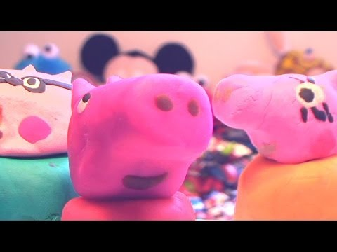 Peppa Pig Family in Playdough Play Doh Peppa How To Make Peppa Pig in Play-Doh