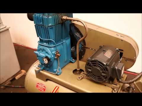 Quincy Air Compressor Model 325 5 HP Two Stage