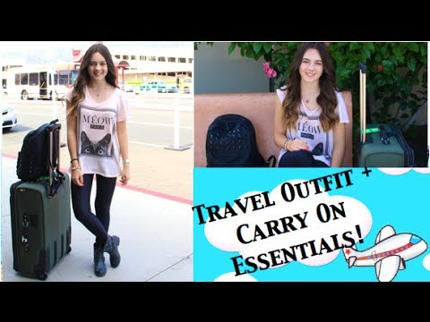 Travel/Airplane Outfit + My Must Have Carry On Essentials!