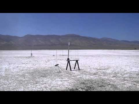 "ROCKONN Rocket Club 5/31/2014 Estes Pro Series II model rocket""Jail Break"" ground view"