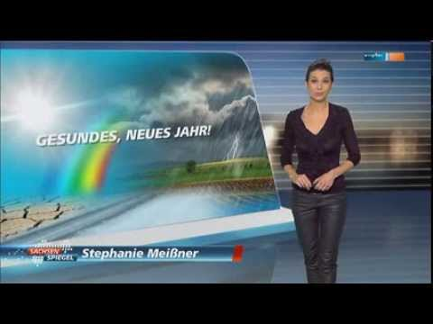Stephanie Meissner   black tight Leather Pants & High Heels 01 01 2014