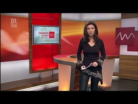 Karin Schubert  half black tight Leather Pants & High Heels 25 10 2012
