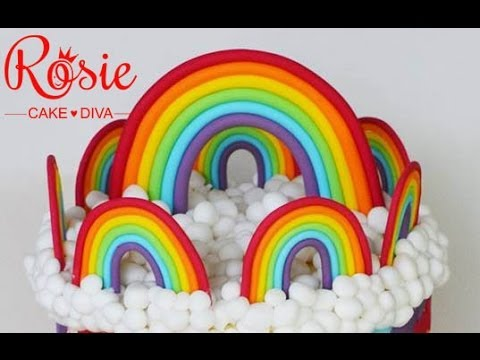 Fondant  Rainbows Tutorial