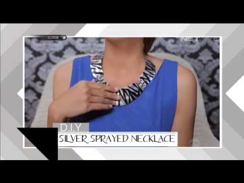 iLook – DIY – Silver Sprayed Necklace