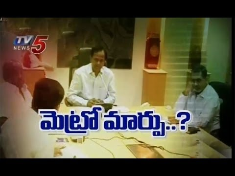 CM KCR asks L&T Hyderabad Metro to Change Alignment : TV5 News