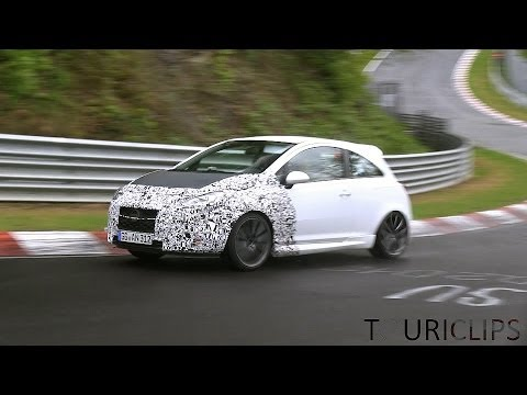 2015 Opel Corsa OPC facelift spied testing on the Nürburgring!