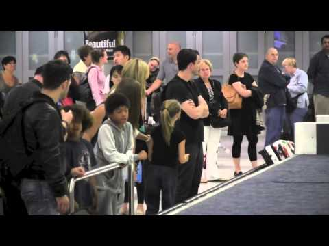 Heidi Klum's Kids Do Jumping Jacks at Airport!