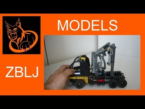 MODEL: [MINI] 200 bricks Lego technic challenge crane arm truck with commentary