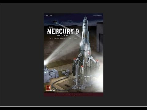 Pegasus Hobbies 1/350 Mercury 9 Rocket