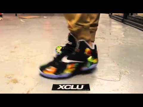 Cheap Wholesale 2014 Nike Lebron XI  Everglades   On Feet Video