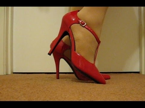 My 6 inch T straps in red.