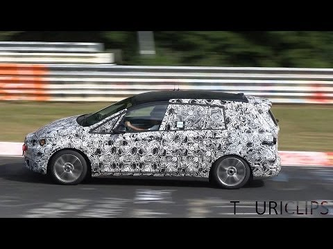 2016 BMW 2-series Active Tourer 7-seater spied testing on the Nürburgring!