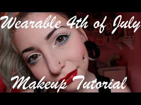 Wearable 4th of July Makeup Tutorial.