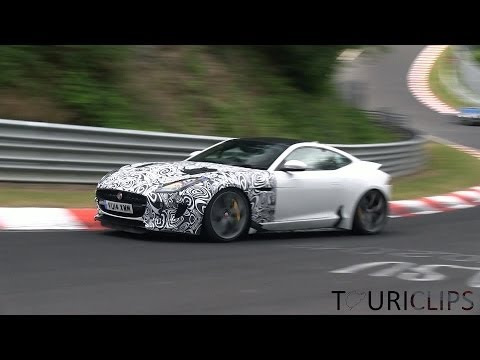 Jaguar F-type RS coupe & convertible spied testing on the Nürburgring!