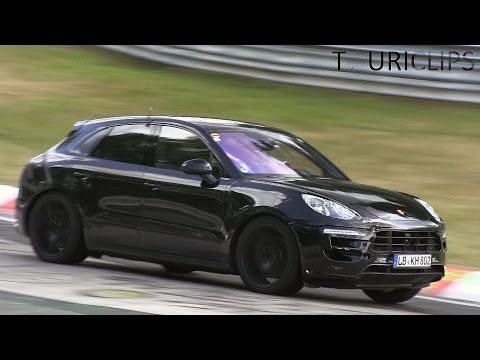 Porsche Macan Turbo (S?) spied testing on the Nürburgring!