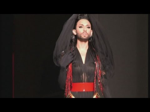 Eurovision winner Conchita Wurst models for Gaultier