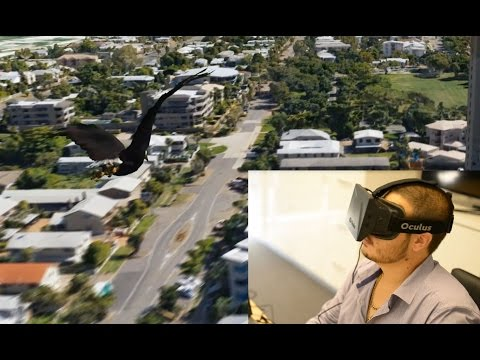 Flying over Townsville 3D model with Oculus Rift
