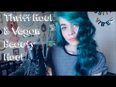 Thrift Haul and Vegan Beauty Haul + GIVEAWAY