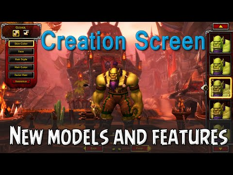 Character Creation Screen – New Models and New Features [ Warlords of Draenor Beta]