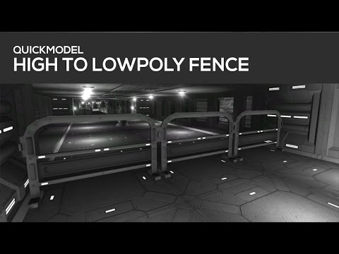 QUICKMODEL – Fence ( Highpoly to Lowpoly baking )  in Blender