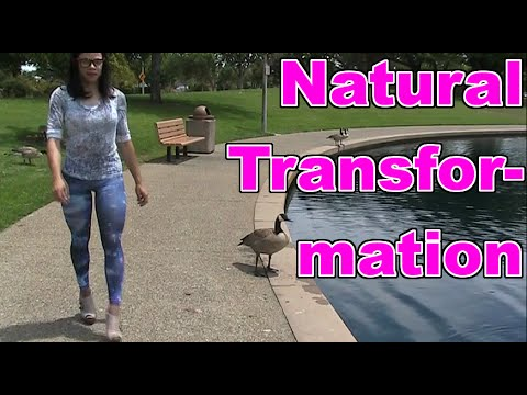 Natural Crossdresser Transformation with Nebula Leggings and High Heels