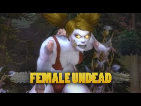 World of Warcraft: Warlords of Draenor Beta – Updated female undead animations