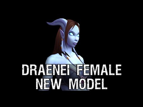 Draenei Female Character New Model Preview – Warlords of Draenor