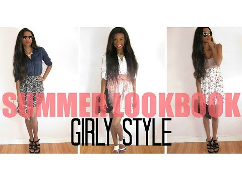 • MODE : SUMMER LOOKBOOK 2014 : 3 TENUES GIRLY  l   3 GIRLY STYLE