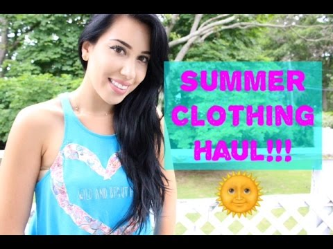 HUGE Summer Clothing Haul | & Try on! ♥  All White Everythang?! ♥