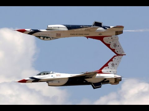 CRAZY STUNTS performed by US Air Force F-16 Aircraft