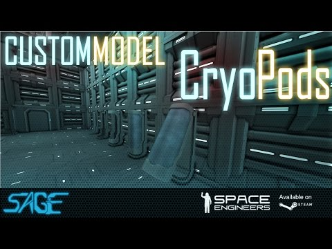 Space Engineers, Cryo Pod (Custom Model)