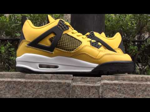 Air Jordan 4 Retro Lightning Tour Yellow Grey White Review From repsperfect.ru