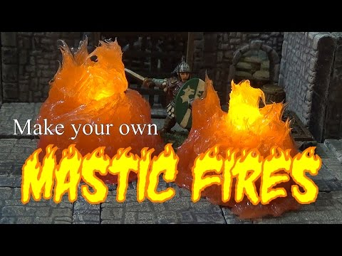 Fire models made from mastic